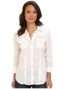 белая блузка: простой крой