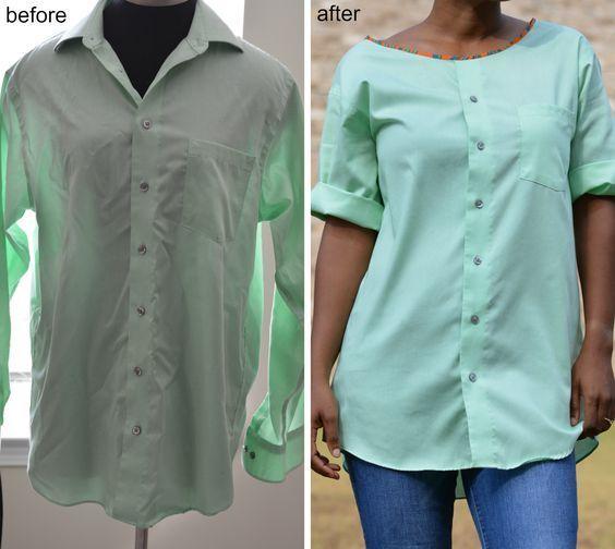 405d5580216 Как из мужской рубашки сделать женскую тунику — инструкция по переделке